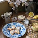 Ricciarelli biscuits and Cherry blossom