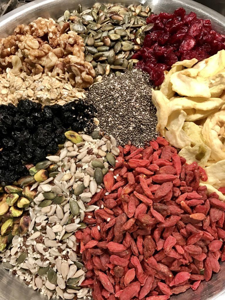 Healthy Homemade Muesli With Goji Berries Chai Seeds Walnuts And