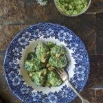 Nettle gnocchi with wild garlic pesto