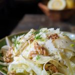 Fennel pear and parmesan with toasted walnuts